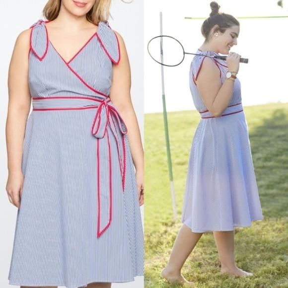 Eloquii Dresses & Skirts - Eloquii x Draper James Striped Wrap Dress Size 24